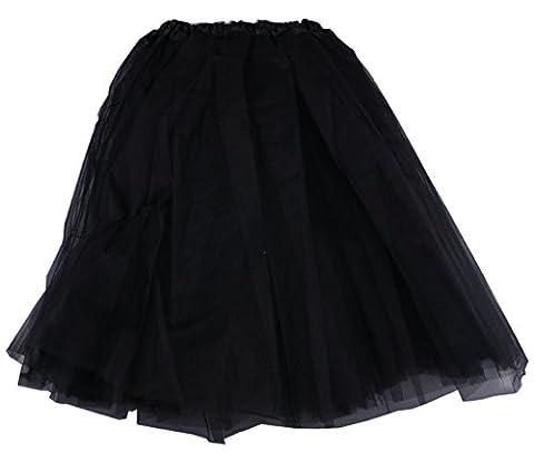 Ballet Danse Tutu Jupe Robe en dentelle en organza - noir - taille unique