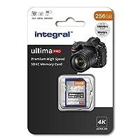 256Gb SD Card 4K Ultra-HD Video Premium High Speed Memory Card SDXC Up To 100MB/S V30 UHS-I U3 C10, by Integral