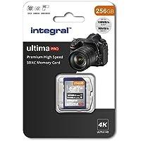Integral 256GB SD Card 4K Ultra-HD Video Premium High Speed Memory Card SDXC Up To 100MB/S V30 UHS-I U3 C10
