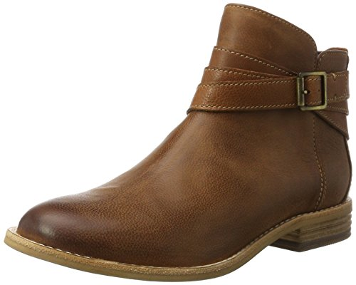 Clarks Damen Maypearl Edie Chelsea Boots, Braun (Dark Tan), 39 EU (Leder Braun Boots)