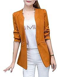 ea328ebee876 Cappotto Donna Fashion Eleganti Ufficio Blazer Festa Style Manica Lunga  Camicia Business Slim Fit Primaverile Autunno