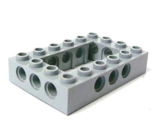 Preisvergleich Produktbild LEGO ® Technic - Lochstein - Kasten - 4x6 Noppen - 3x3 Löcher - hellgrau