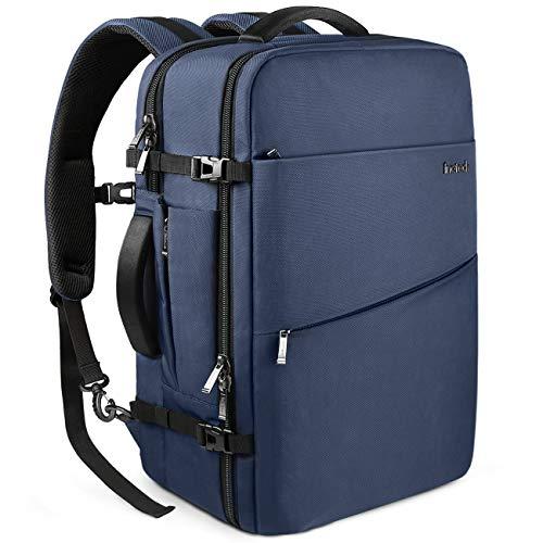 Inateck zaino da viaggio 40l zaino cabina bagaglio a mano compatibile con laptop 15-17 pollici, zaino valigia omologato per volo, zaino antifurto viaggio - blu