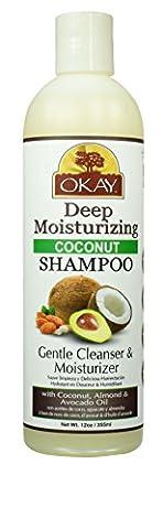 Okay Coconut Oil Deep Moisturizing Shampoo, 12 Ounce by Okay