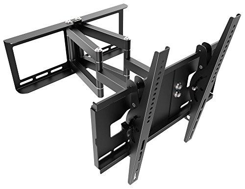 """RICOO TV Wandhalterung Schwenkbar Neigbar R48 Universal LCD Wandhalter Ausziehbar Fernseher Halterung Curved 4K OLED Flachbildfernseher 80cm/30""""-165cm/65"""" Zoll VESA 200x200 400x400 / Schwarz"""