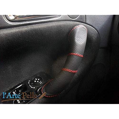 Copri maniglia Alfa Romeo GT vera pelle nera traforata