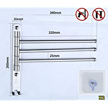 Longless acero inoxidable Baño Estante Baño Toallero Rack Towel Rack ...