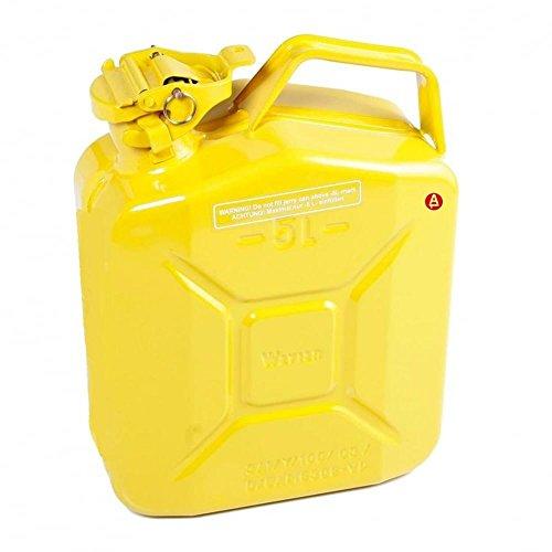 Kanister 5L Liter Metall Kraftstoff Diesel Benzin Benzin Öl gelb Kerosin Armee Typ j008a