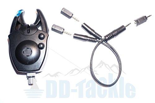 DD-Tackle Klinke Adapter Set für LED Alu Snag Bar Swinger Hänger Pendel Bissanzeiger -