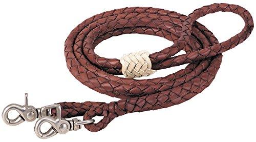 Weaver Leder 50–1750rund geflochten Latigo Roper Zügel, braun, 3/20,3cm X 8\'