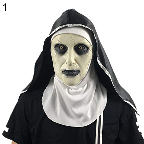 Kostüm Santa Scary - DeYL Halloween Dekoration Spooky Scary Halloween Latex Maske Mund-Frauen Santo Nonne-Kostüm-Partei-Witz-Prop - 1