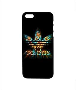 Nimbu Mirchi Designs Hard plastic premium Case matte Finish Addidas2 Iphone 5 / 5s (Black)
