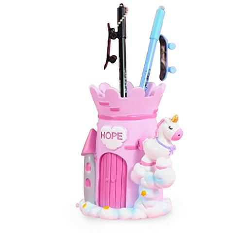 Tumao unicorno porta penna portapenne contenitore organizer, penne scatola portapenne matita bicchiere portapenne stile retrò creative regalo. rosa