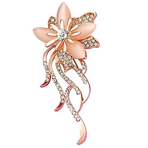 Frau Eine Legierung Brosche Kristall Chrysantheme Katzenauge Stein Elegant Mode