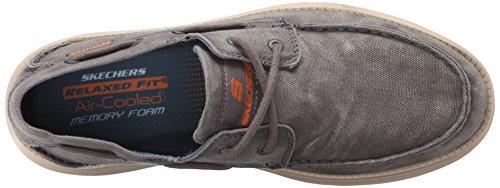 Skechers StatusMelec, Sneakers Basses Homme Gris (Char)