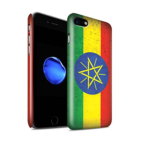 STUFF4 Glanz Snap-On Hülle / Case für Apple iPhone 6 / Marokko/Marokkanisch Muster / Afrika Flagge Kollektion Äthiopien/Äthiopier