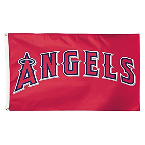 MLB Anaheim Angels Deluxe Flag, 3 x 5', Multicolor