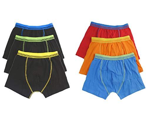 Palleon 6er Pack Boxershorts Jungen | Boxer Pants Kinder 98-104/3-4 / mehrfarb