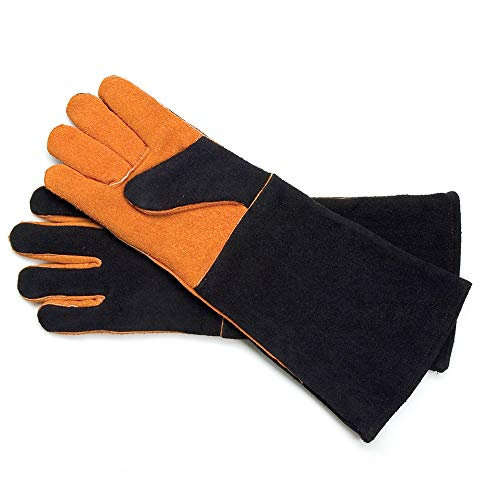 Steven Raichlen Best of Barbecue Wildleder-Handschuhe, extra lang, schwarz, 2.49 x 22.5 x 44.98 cm, SR8038 -