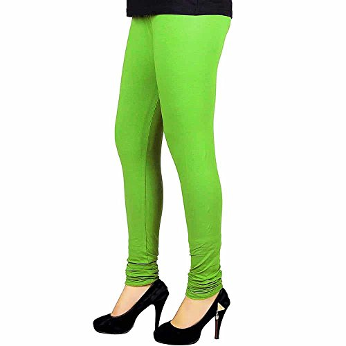 Green Churidaar Cotton Leggings