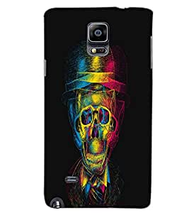 SAMSUNG GALAXY NOTE 4 SKULL Back Cover by PRINTSWAG