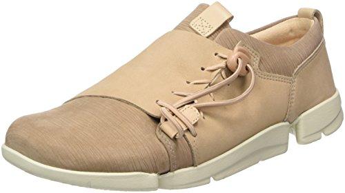 Clarks Damen Tri Camilla Sneaker, Beige (Sand Combi), 38 EU