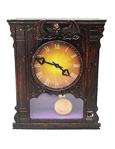 Morris Costumes Magic Power Ltd. Unisex-Erwachsene Antik Haunted Uhr Verstecktem Sensenmann Halloween Dekoration Prop