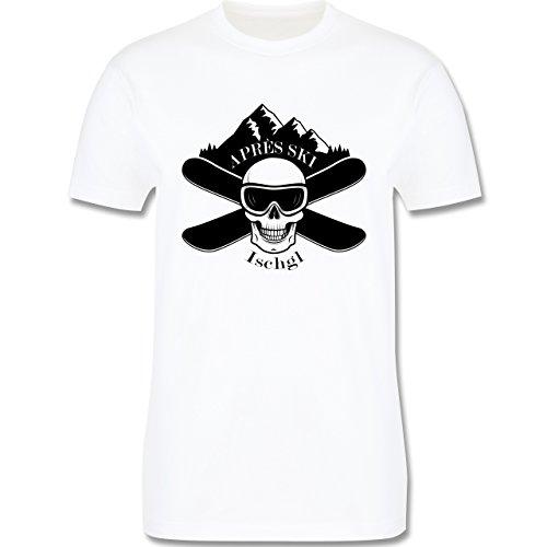 Après Ski - Apres Ski Ischgl Totenkopf - Herren Premium T-Shirt Weiß