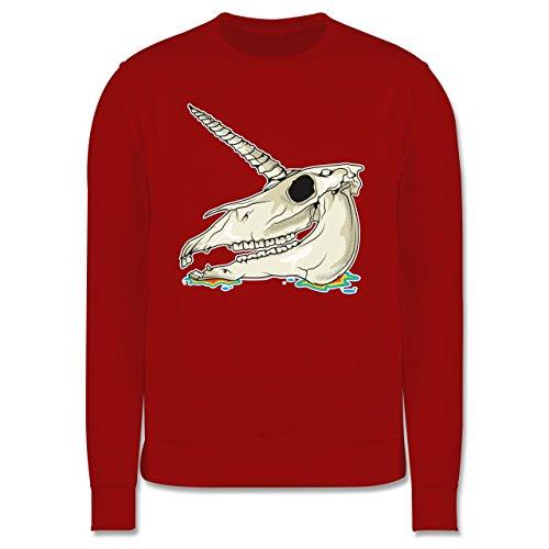 Statement Shirts - Einhorn Totenkopf - Herren Premium Pullover Rot