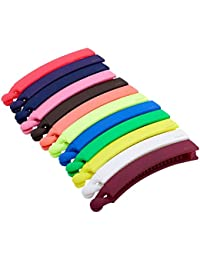 SUMI Daily Use Small Multicolour Met Banana Hair Clip for Girls and Womens (Combo of 12)