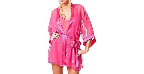 eb311e0f1e Bringbring Women Lingerie Babydoll Sleepwear Underwear Lace Coat Nightwear