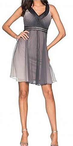 elegantes festliches Empire Kleid mit Farbverlauf Partykleid Cocktailkleid (38)