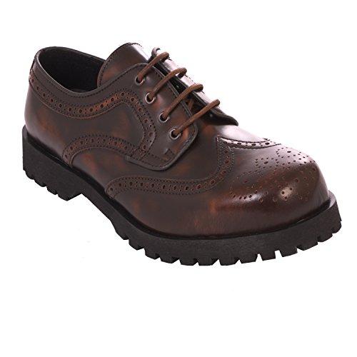 Boots & Braces Halbschuh Budapester Rub Off braun (38)