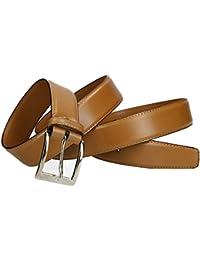 INTARSI Cinturón hombre marròn real cuero con costura tallas ext VR1599