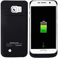 BasicStock Funda Batería Samsung Galaxy S6, 4800mAh Batería Externa Recargable Ultra Delgada Protector Portátil Carga Caso de Prueba de Choque para Samsung Galaxy S6 (Negro)