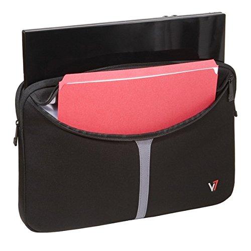 V7 Professional Sleeve Notebookhülle / Notebooktasche / Laptoptasche / Cover bis 30,5 cm (12 Zoll) schwarz