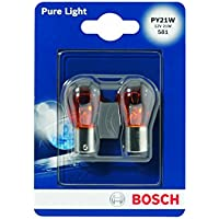 Bosch 1987301018 Pure Light - Bombilla PY21W (para luz de freno, intermitentes, matrícula, etc.)