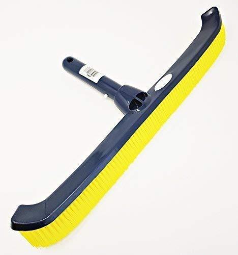 well2wellness® Poolbürste Premium mit gelben Borsten für eine optimale Poolreinigung