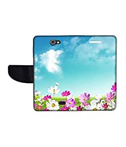 KolorEdge Printed Flip Cover For Gionee Pionee P2 Multicolor - (43KeMLogo09259GioneeP2)