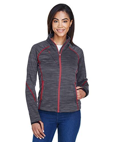 Ladies' Flux M?lange Bonded Fleece Jacket CRBN/ OLY RD 467 XL Damen Bonded Fleece