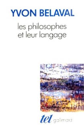 Les philosophes et leur langage