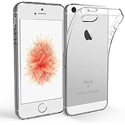 NEW'C Coque pour iPhone 5S / 5 / Se,[ Ultra Transparente Silicone en Gel TPU Souple ] Housse Etui Coque de Protection avec Absorption de Choc et Anti-Scratch