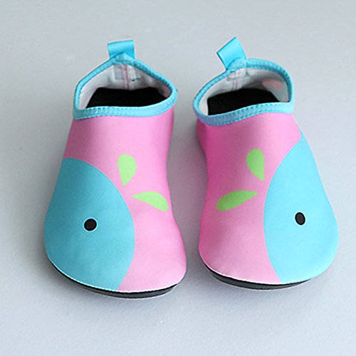 Sommer Atmungsaktiv Badeschuhe Wasserschuhe Schlüpfen Schnell Trocknend Schwimm Aquaschuhe Leicht Weiche Kinder Schuhe Junge Mädchen Rosa