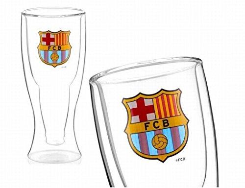 Vaso cerveza fondo doble FC. Barcelona 375ml