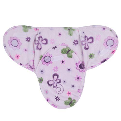 Neugeborenen Babydecken Weiche Flanell Velvet Swaddle Wrap Schlafsack Warme Bettwäsche Decke für Jungen Mädchen (Color : Purple Flower, Size : 0-6 Months)