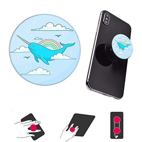 Preisvergleich Produktbild ausziehbarer sockel und Griff für Smartphones und Tablets- Blau Einhorn Gold