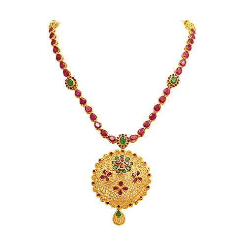 Joyalukkas ratna collections 22k 916 yellow gold and emerald necklace aloadofball Image collections