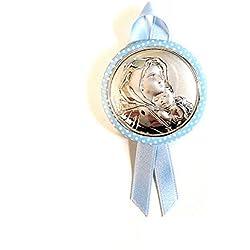 Médaille Berceau bébé | | Madonna avec enfant | Argent bilamina | 2R Argenti, argent