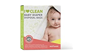Body Guard Baby Diapers and Napkin Disposal Bags - 45 Bags