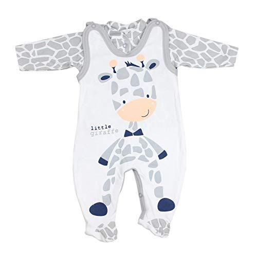 TupTam Baby Unisex Strampler-Set mit Aufdruck Spruch 2-TLG, Farbe: Giraffe, Größe: 68